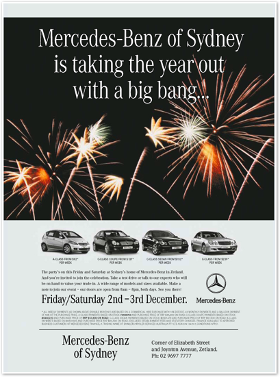 Ads one for Mercedes benz sydney